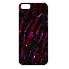 Skin3 Black Marble & Burgundy Marble Apple Iphone 5 Seamless Case (white) by trendistuff