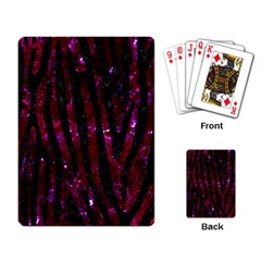 Skin4 Black Marble & Burgundy Marble Playing Card by trendistuff
