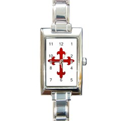 Crusader Cross Rectangle Italian Charm Watch by Valentinaart