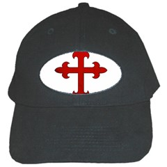 Crusader Cross Black Cap by Valentinaart