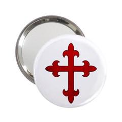 Crusader Cross 2 25  Handbag Mirrors by Valentinaart