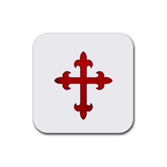 Crusader Cross Rubber Square Coaster (4 Pack)  by Valentinaart