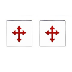 Crusader Cross Cufflinks (square) by Valentinaart