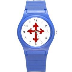 Crusader Cross Round Plastic Sport Watch (s) by Valentinaart