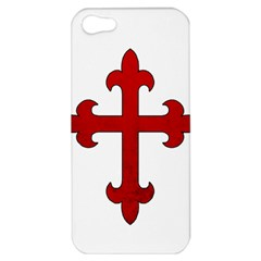 Crusader Cross Apple Iphone 5 Hardshell Case by Valentinaart