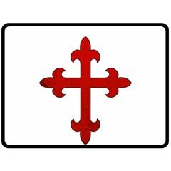 Crusader Cross Double Sided Fleece Blanket (large)  by Valentinaart