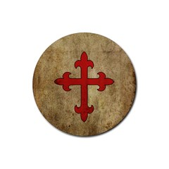 Crusader Cross Rubber Round Coaster (4 Pack)  by Valentinaart