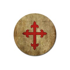 Crusader Cross Magnet 3  (round) by Valentinaart