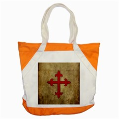 Crusader Cross Accent Tote Bag by Valentinaart
