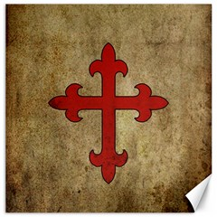 Crusader Cross Canvas 16  X 16   by Valentinaart