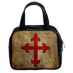 Crusader Cross Classic Handbags (2 Sides) by Valentinaart