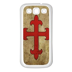 Crusader Cross Samsung Galaxy S3 Back Case (white) by Valentinaart