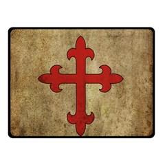 Crusader Cross Double Sided Fleece Blanket (small)  by Valentinaart