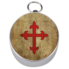 Crusader Cross Silver Compasses by Valentinaart