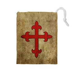 Crusader Cross Drawstring Pouches (large)  by Valentinaart