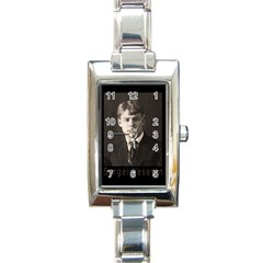 Sergei Yesenin Rectangle Italian Charm Watch by Valentinaart