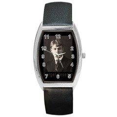 Sergei Yesenin Barrel Style Metal Watch by Valentinaart