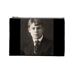 Sergei Yesenin Cosmetic Bag (large)  by Valentinaart