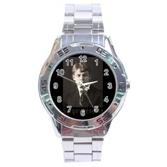 Sergei Yesenin Stainless Steel Analogue Watch by Valentinaart