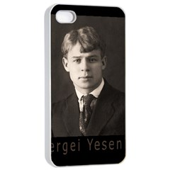 Sergei Yesenin Apple Iphone 4/4s Seamless Case (white) by Valentinaart