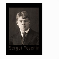 Sergei Yesenin Large Garden Flag (two Sides) by Valentinaart