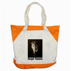 Sergei Yesenin Accent Tote Bag by Valentinaart