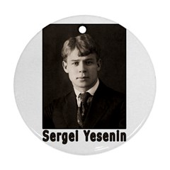 Sergei Yesenin Round Ornament (two Sides) by Valentinaart