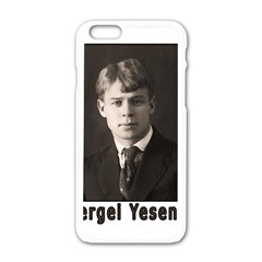 Sergei Yesenin Apple Iphone 6/6s White Enamel Case by Valentinaart