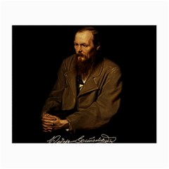 Fyodor Dostoyevsky Small Glasses Cloth (2 Side) by Valentinaart