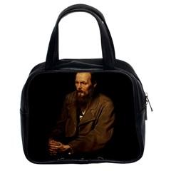 Fyodor Dostoyevsky Classic Handbags (2 Sides) by Valentinaart