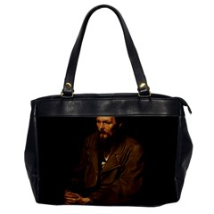 Fyodor Dostoyevsky Office Handbags by Valentinaart