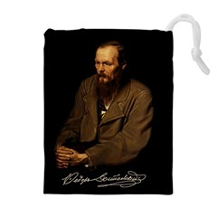 Fyodor Dostoyevsky Drawstring Pouches (extra Large) by Valentinaart