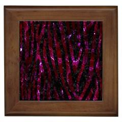 Skin4 Black Marble & Burgundy Marble (r) Framed Tiles by trendistuff