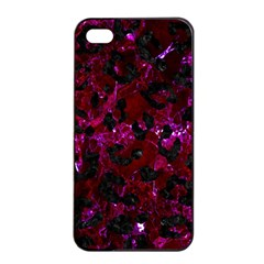Skin5 Black Marble & Burgundy Marble Apple Iphone 4/4s Seamless Case (black) by trendistuff