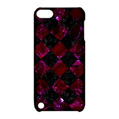 Square2 Black Marble & Burgundy Marble Apple Ipod Touch 5 Hardshell Case With Stand by trendistuff