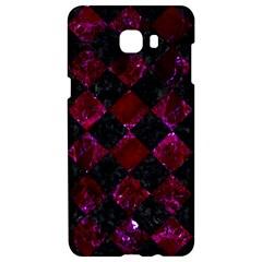Square2 Black Marble & Burgundy Marble Samsung C9 Pro Hardshell Case  by trendistuff