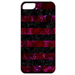 Stripes2 Black Marble & Burgundy Marble Apple Iphone 5 Classic Hardshell Case by trendistuff
