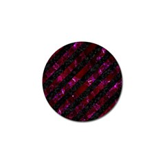 Stripes3 Black Marble & Burgundy Marblestripes3 Black Marble & Burgundy Marble Golf Ball Marker by trendistuff