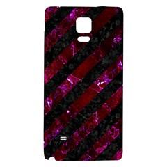 Stripes3 Black Marble & Burgundy Marblestripes3 Black Marble & Burgundy Marble Galaxy Note 4 Back Case by trendistuff