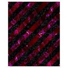 Stripes3 Black Marble & Burgundy Marblestripes3 Black Marble & Burgundy Marble Drawstring Bag (small) by trendistuff