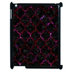 Tile1 Black Marble & Burgundy Marble Apple Ipad 2 Case (black) by trendistuff