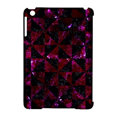 Triangle1 Black Marble & Burgundy Marble Apple Ipad Mini Hardshell Case (compatible With Smart Cover) by trendistuff