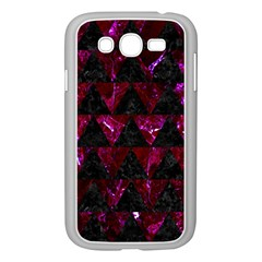 Triangle2 Black Marble & Burgundy Marble Samsung Galaxy Grand Duos I9082 Case (white) by trendistuff
