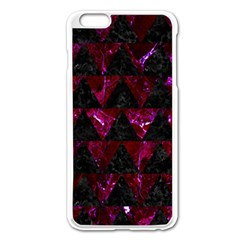 Triangle2 Black Marble & Burgundy Marble Apple Iphone 6 Plus/6s Plus Enamel White Case by trendistuff