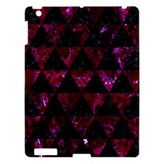 Triangle3 Black Marble & Burgundy Marble Apple Ipad 3/4 Hardshell Case by trendistuff