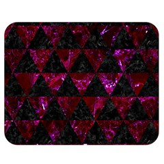 Triangle3 Black Marble & Burgundy Marble Double Sided Flano Blanket (medium)  by trendistuff