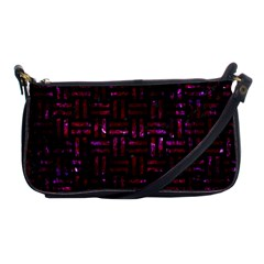 Woven1 Black Marble & Burgundy Marble Shoulder Clutch Bags by trendistuff