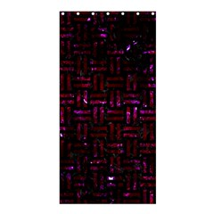Woven1 Black Marble & Burgundy Marble Shower Curtain 36  X 72  (stall)  by trendistuff