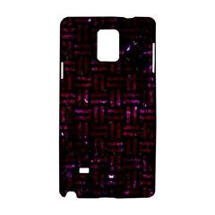 Woven1 Black Marble & Burgundy Marble Samsung Galaxy Note 4 Hardshell Case by trendistuff