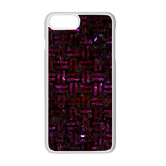Woven1 Black Marble & Burgundy Marble Apple Iphone 7 Plus White Seamless Case by trendistuff
